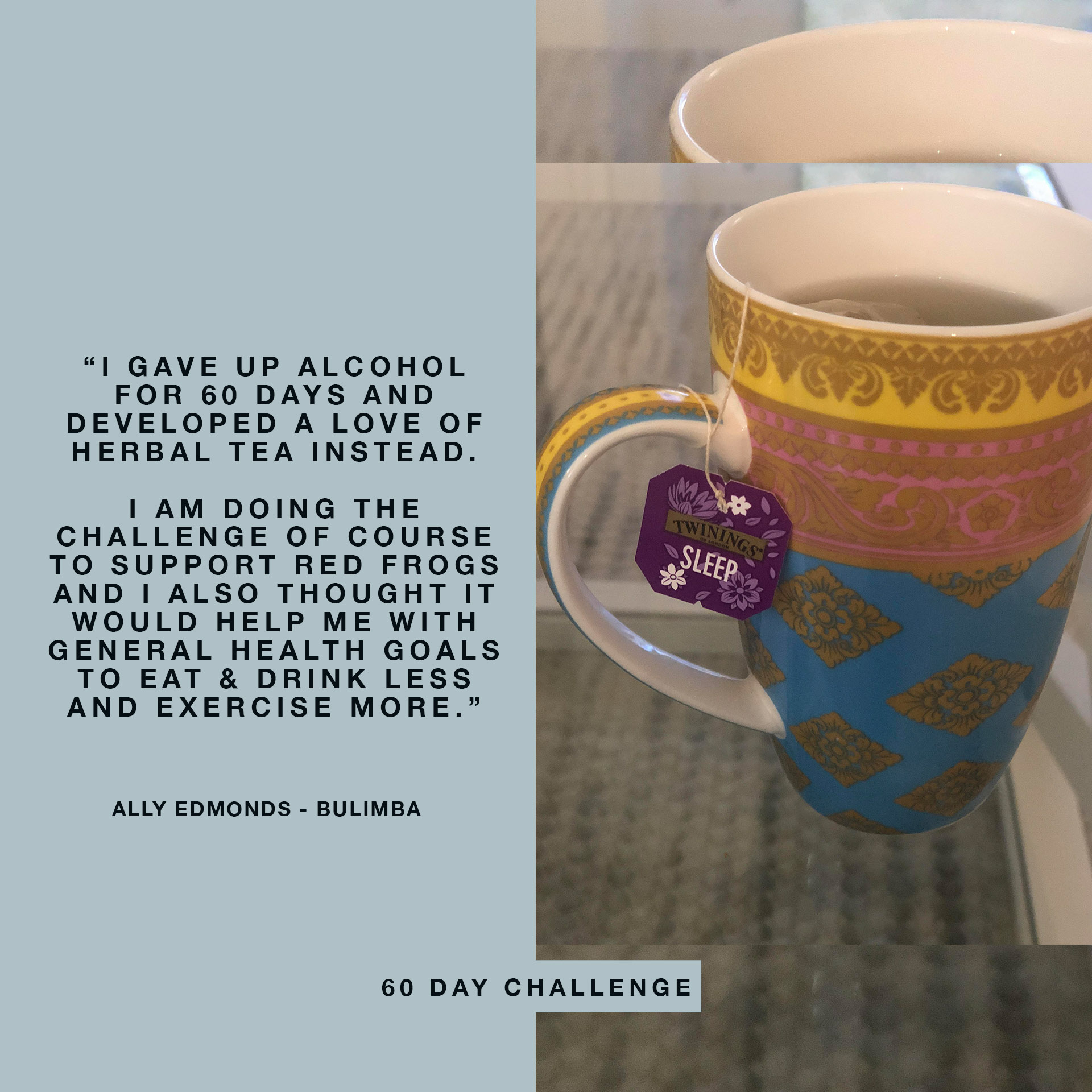 60 Day Challenge Pledge by Ally Edmonds