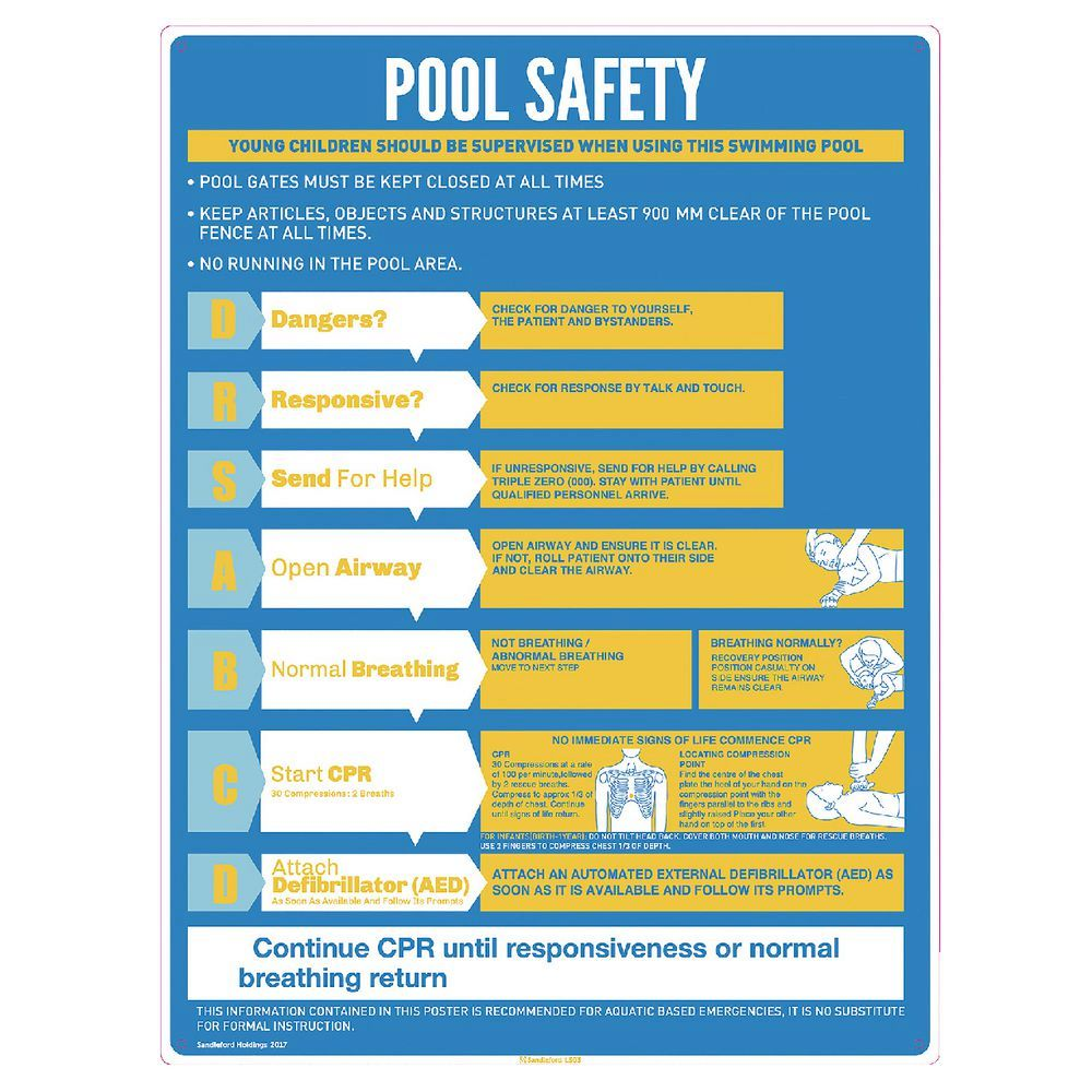 Pool Safety Sign Queensland
