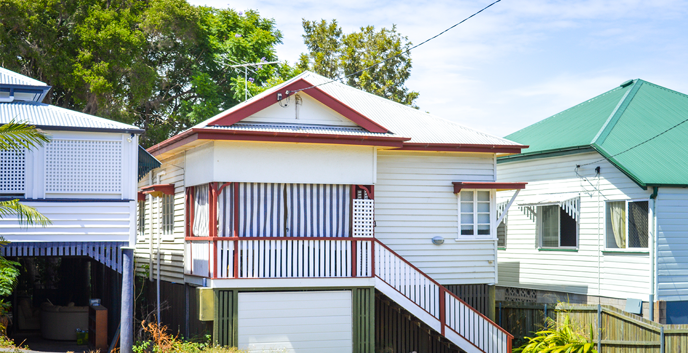 Queenslander style house in New Farm, Brisbane