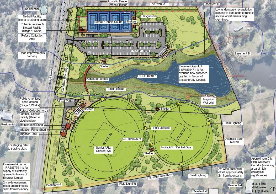 moggill district sports park plan