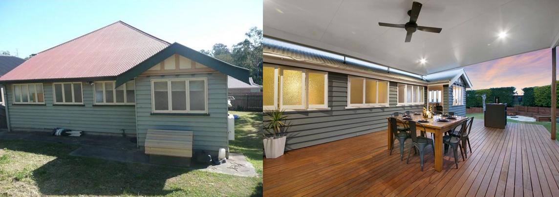 queenslander renovation back deck