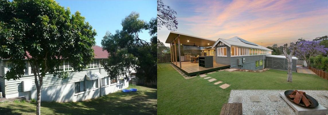 queenslander renovation backyard