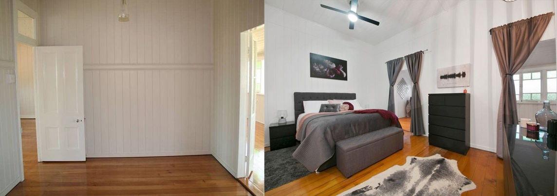 queenslander renovation master bedroom