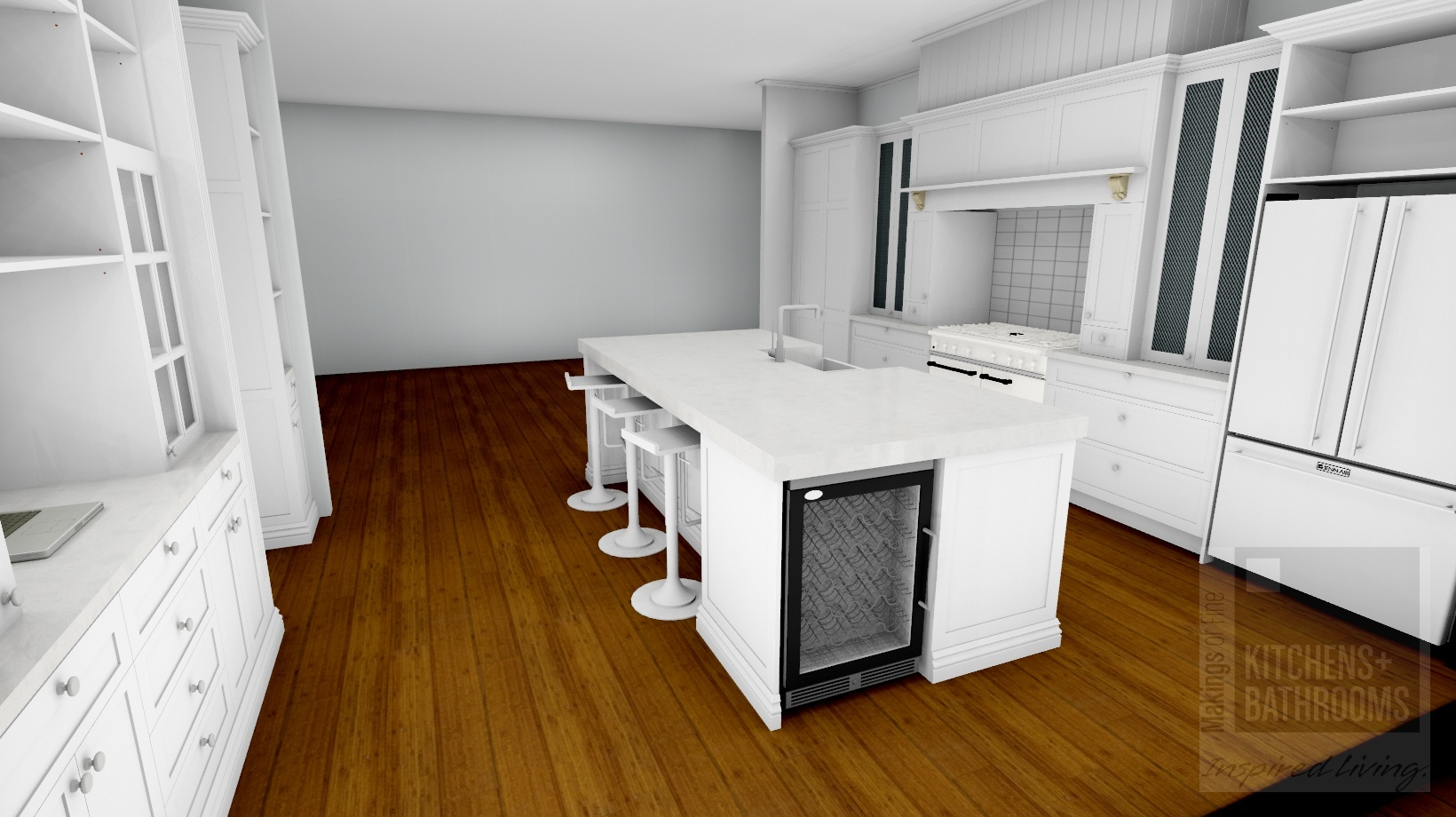 Digital model of kitchen | Photo: Makings of Fine Kitchens & Bathrooms